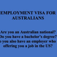 Employment Visa For Australians – E3